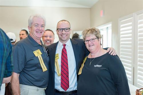 Ambassadors Tom Jordan, Michael Agri, and Ann Pintiliano