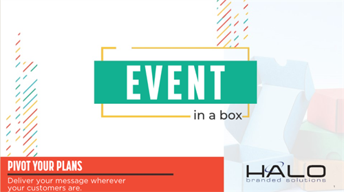 Events in a Box - planning a virtual event, let Adrienne help you with creative ideas