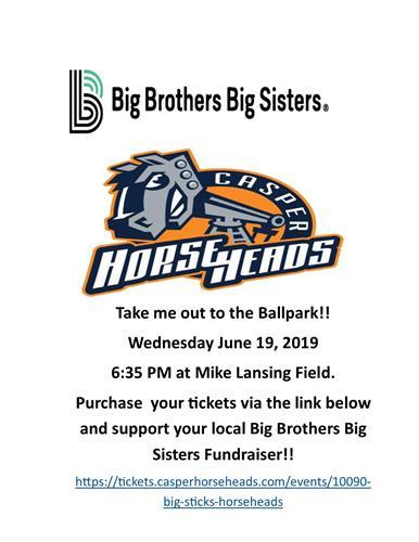 Casper Horseheads Baseball benefiting the Big Brothers Big Sisters