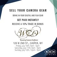 Wyoming Camera Outfitters Trade in event July 10th-12th