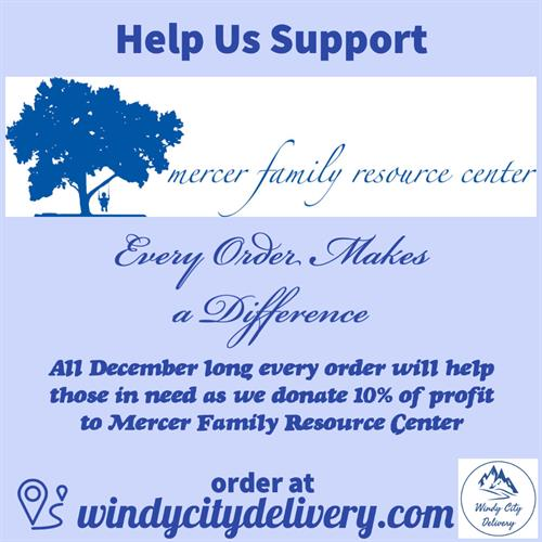 Help us in December to give back to Mercer Family Resource Center