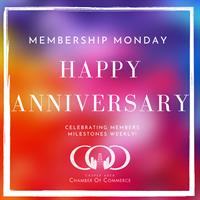 Member Anniversaries 3/14/21- 3/20/21