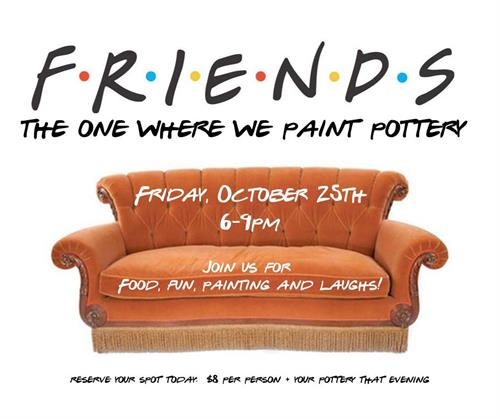 Friends PARTY at POTTERY BY YOU!