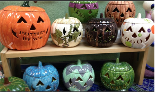 Personalized Hand Carved Pumpkins at POTTERY BY YOU!