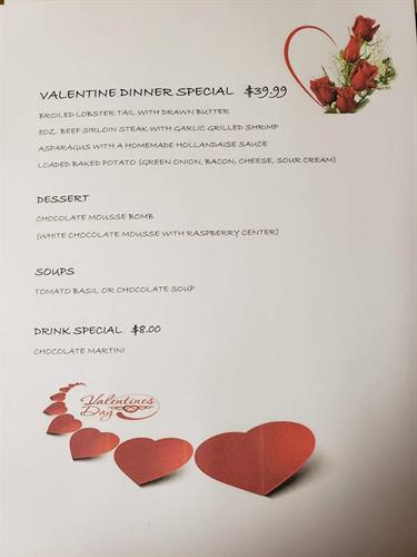 Valentine's Day Dinner at the Hilton