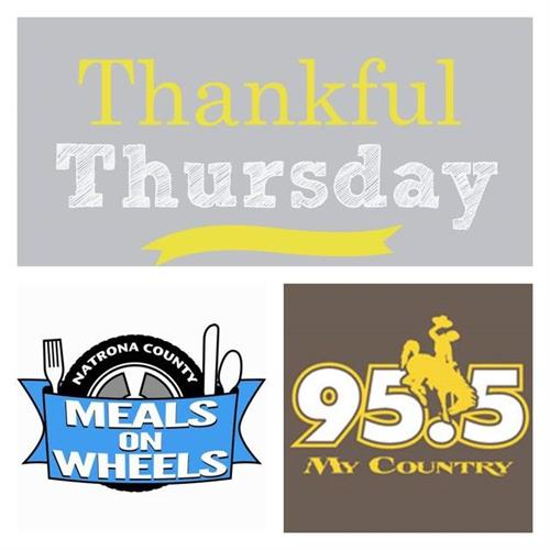 Thankful Thursday Benefiting Meals on Wheels