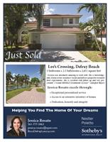 Beautiful waterfront single family home sold in Lee's Crossing, Delray Beach