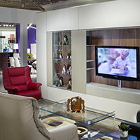 Sklar can design the perfect entertainment wall for your living area.