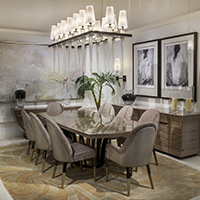 Make a grand impression with this Italian dining room.