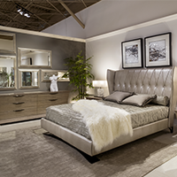 Enjoy a luxurious sleep in your Italian designed bedroom.