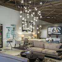 Sklar has chandeliers that brighten your space.