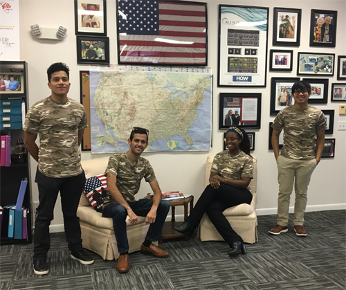 Our fabulous team of high school and college interns at the HOW Foundation offices