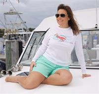 Ladies performance long sleeve Caloosa lobster