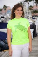 Ladies performance short sleeve Caloosa turtle