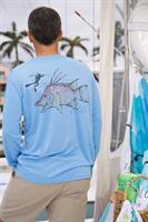 Mens performance long sleeve Caloosa Hogfish