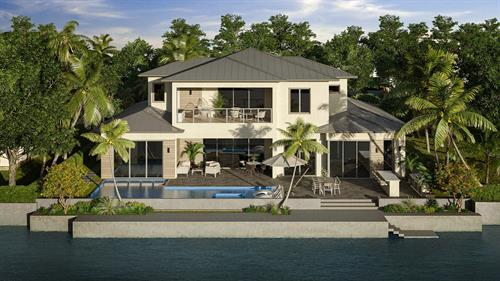 Coconut Palm Estate Development in Tropic Isle Back View
