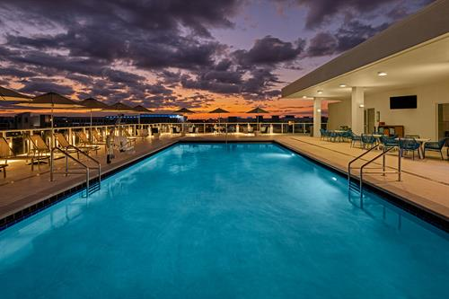 Rooftop Pool Bar Sunset View