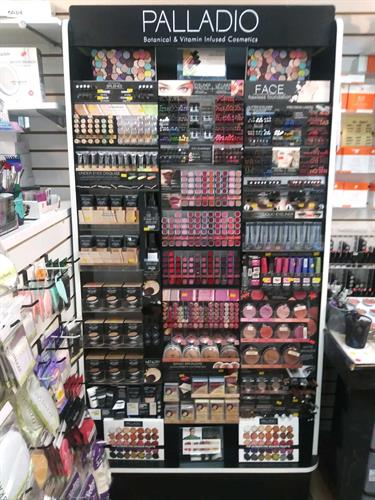 Full line of Palladio cosmetics