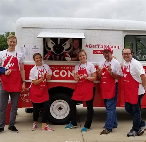 Our #GetTheScoop ice cream truck that travels across the state!