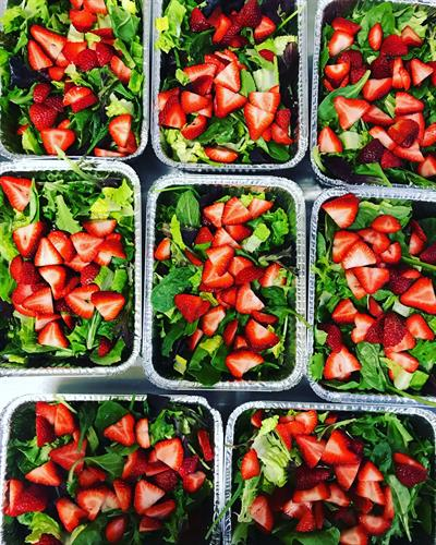 Spring Strawberry Salads