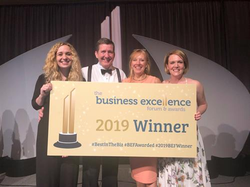 Broadwing Advisors winning Best Company Culture Award at Business Excellence Forum and Awards in Charleston, SC in February, 2019