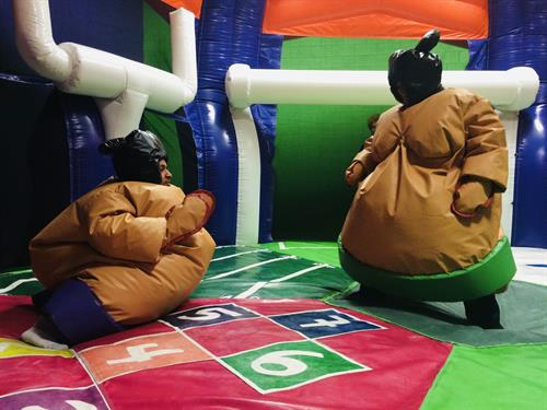 Giant sumo suits