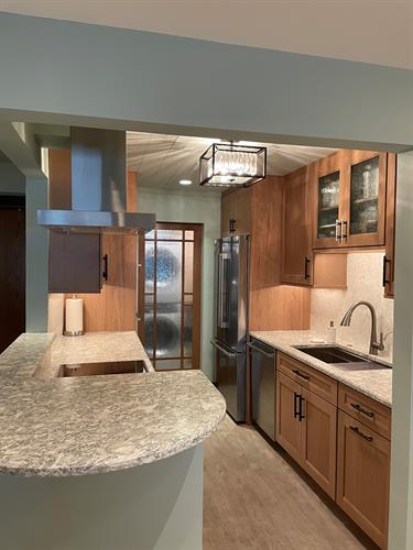 Extensive kitchen and laundry room renovation in Monona condominium.