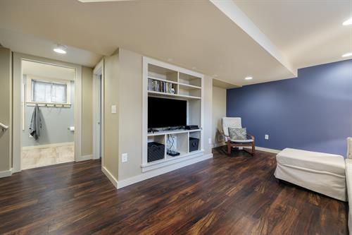Complete lower level renovation with new bath and laundry rooms.