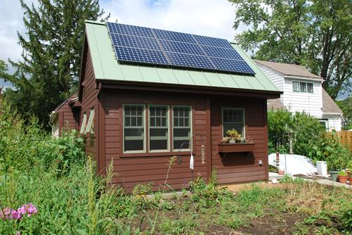 Sustainable solar panels on whole home remodel.