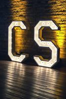 Lit Marquee Letters