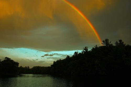 Rainbow over Wisconsin River