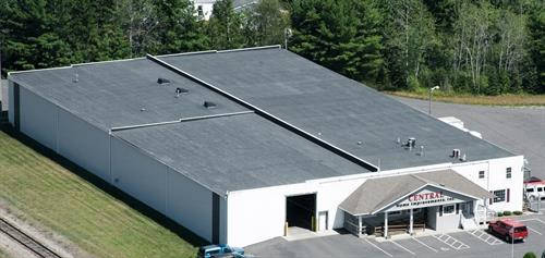 Aerial view of our warehouse and showroom.