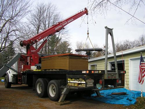 Professional Crane Service- lift and load everything from roof trusses to rooftop units and shingles.