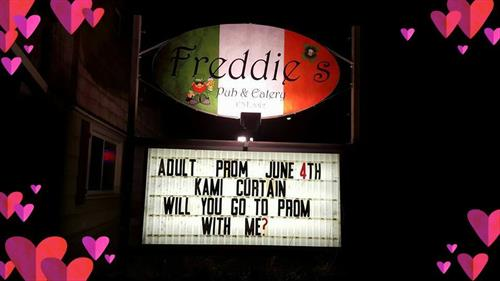 Adult Prom Marquee 2016
