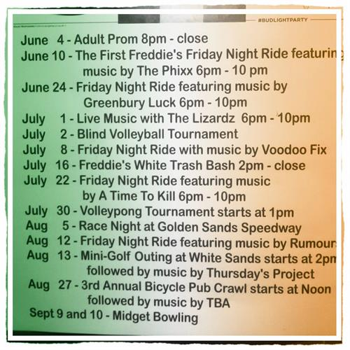 Summer Events Calendar 2016