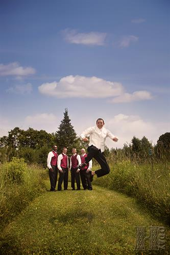 I guess he's got reason for jumping for joy!