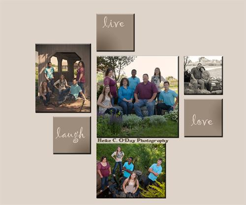 Incorporate your own wall art into your Family Portrait Display.
