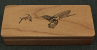 Laser engraved maple gift box (Your favorite picture or saying for the engraving)