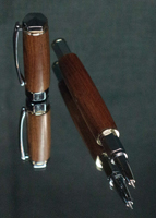 Shaw with a barrel created with Africian Mahogany wood and harware is finished with Chrome and 24K gold plated hardware.
