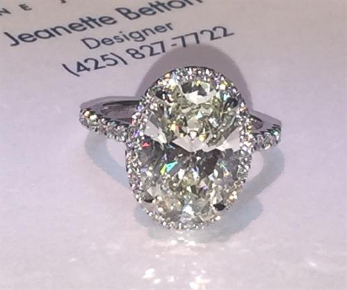 5 carat oval engagement ring