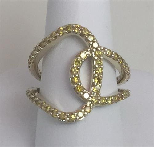 Yellow diamond custom ring