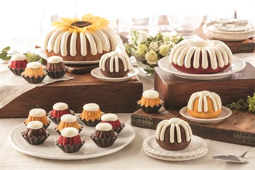 Choose from 10 flavors and 4 sizes, each crowned with our signature cream cheese frosting