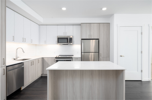 Open-concept homes with wood-style flooring and quartz countertops!