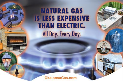 Natural Gas is less expensive than electric!