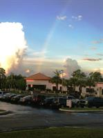 A rainbow over our facility.