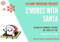 4-H Camp Timpoochee S'mores with Santa Festival Call for Volunteers/Donations