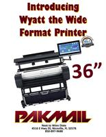 PakMail Bluewater Bay Introduces Wyatt the Wide Format Printer