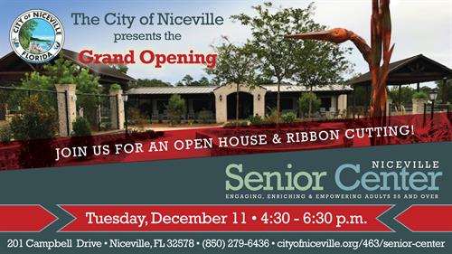 Niceville Senior Center Grand Opening Invite