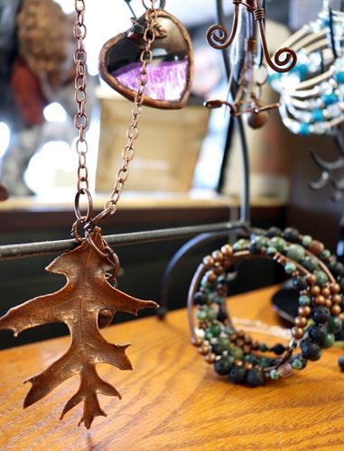 Jewelry by local Artists including Alecia Wilcox