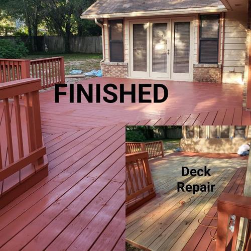Deck repairs!